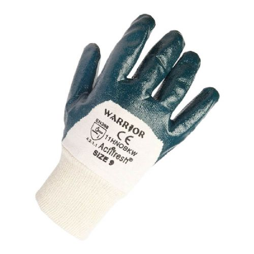 Warrior Heavyweight Open Back Nitrile Gloves